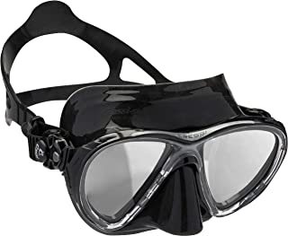 Cressi Scuba Diving Masks with Inclined Tear Drop Lenses for More Downward Visibility, Air and Eyes Evolution: Made in Italy