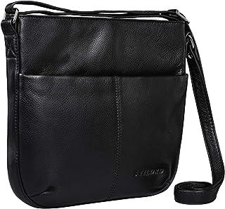 STILORD 'Lucy' Crossbody Bag Damen Leder Vintage Ledertasche Umhängetasche Modern für Freizeit Ausgehen Shopping Handtasch...