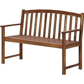 不二貿易 ガーデン 木製ベンチ ナチュラル 82064