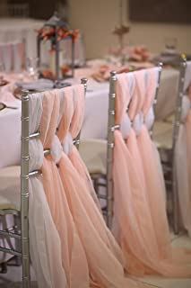 24 x 72 inch Chiavari Chair Sash (Blush)