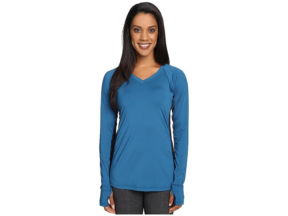 Skirt Sports Free Flow Long Sleeve (Brilliant Blue/Black) Women