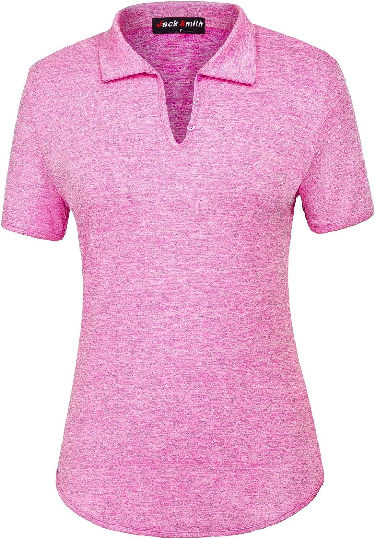Jack Smith Women's Short Sleeve Sports MoistureWicking Polo Shirt TShirt Tops