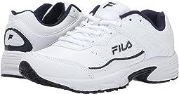 White/Fila Navy/Metallic Silver