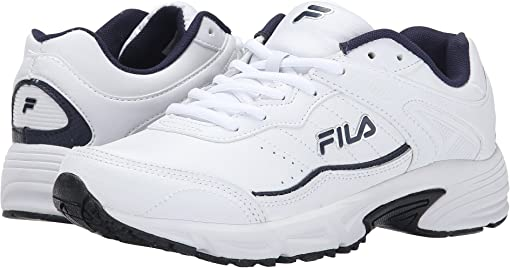 White/Fila Navy/Metallic Silver