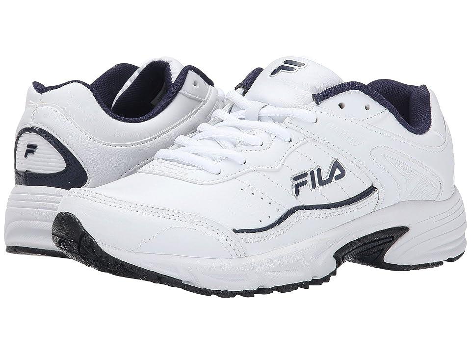 Fila Memory Sportland (White/Fila Navy/Metallic Silver) Men