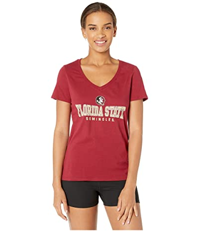 Champion College Florida State Seminoles University V-Neck Tee (Garnet 2) Women