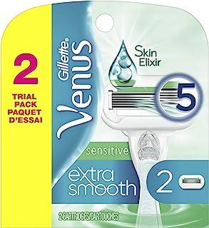 Gillette Venus Extra Smooth Sensitive Women`s Razor Blades - 2 Count Refills