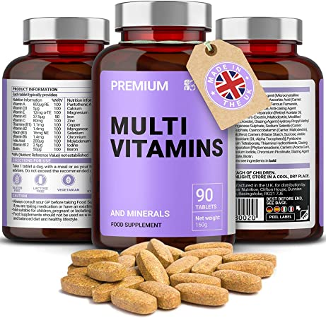 Complete Multivitamin Tablets - Multivitamins, Zinc, Iron and Magnesium -  90 Tablets - 3 Month Supply - Made in UK : Amazon.co.uk: Health & Personal  Care