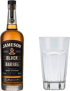 Jameson Black Barrel Blended Irish Whisky Set mit Tall Glas, Whiskey, Schnaps, Spirituose, mit Geschenkbox, Alkohol, Flasche, 40 %, 700 ml