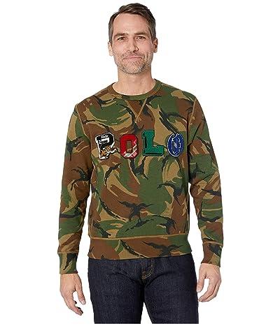 Polo Ralph Lauren Vintage Fleece Crew Neck Sweater (British Elmwood Camo) Men