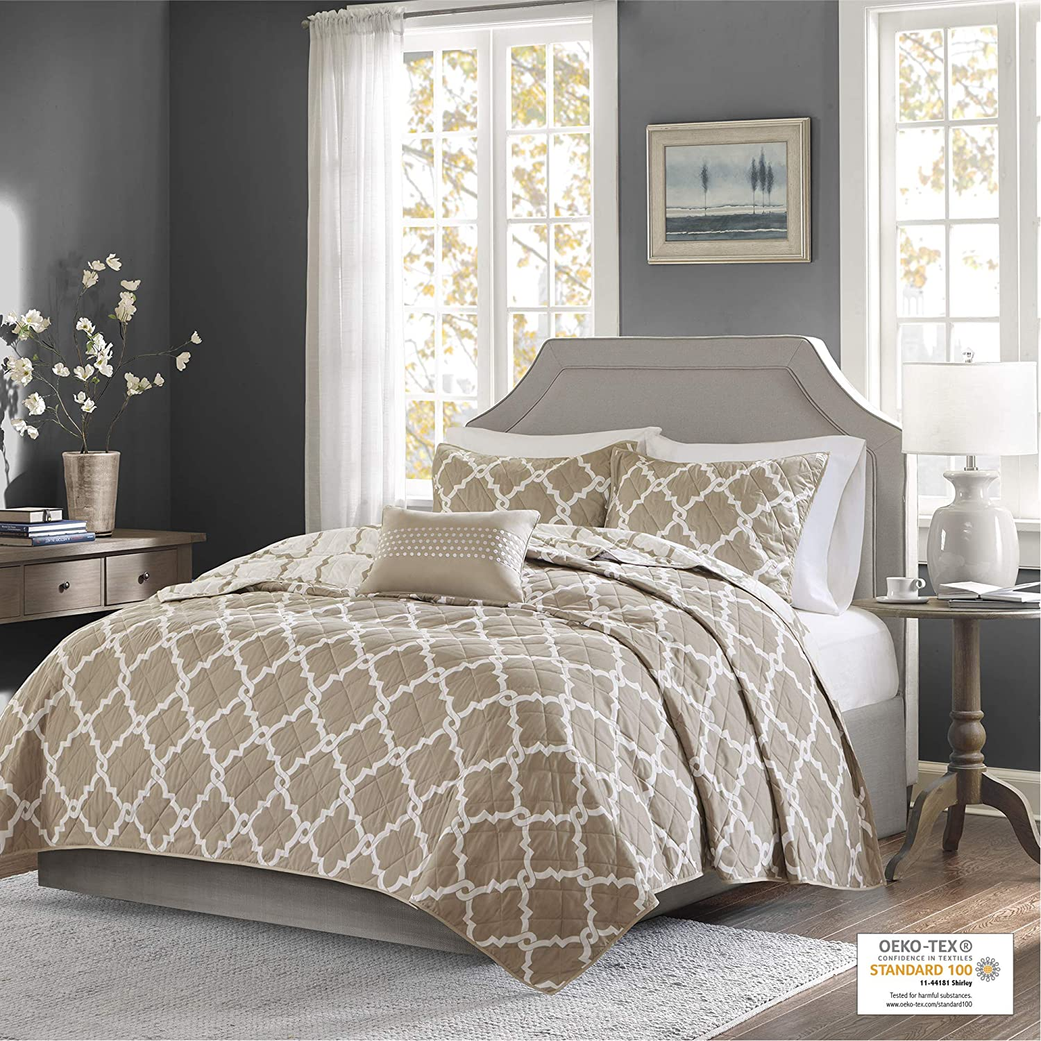 Madison Park Essentials Merritt King Quilt low-pricing Washington Mall Bedding Size Cal