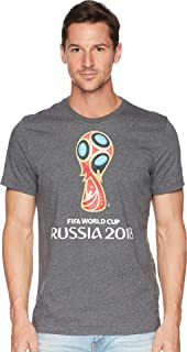 adidas World Cup Soccer World Cup Emblem Men's Tee, XX-Large, Grey