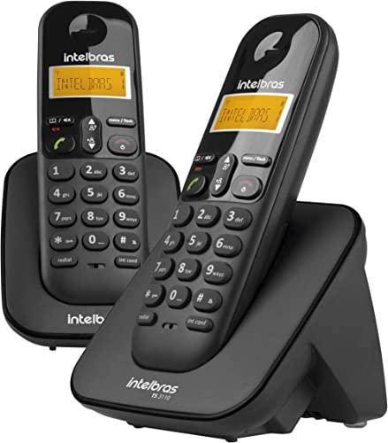 TELEFONE SEM FIO C/IDENTIFICADOR DE CHAMADAS + RAMAL TS3112 PRETO 4123102 - intelbras