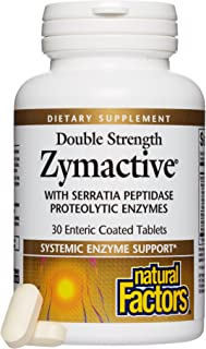 Natural Factors - Zymactive Proteolytic Enzyme Double Strength, Supports a Healthy Inflammatory Response to Help Muscle an...
