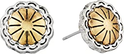 Concho Metal Stud Earrings