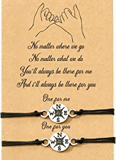2-Piece Pinky Promise Bracelets Friendship Couple Distance Matching Graduation Bracelet Gift Bohemia