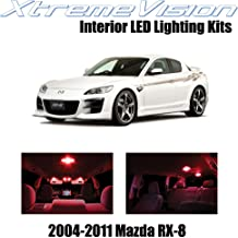 XtremeVision Interior LED for Mazda RX-8 RX8 2004-2014 (5 Pieces) Red Interior LED Kit + Installation Tool