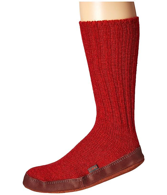 Acorn  Slipper Sock (Crimson) Shoes