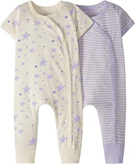 Moon and Back Unisex Baby 2 Pack Romper