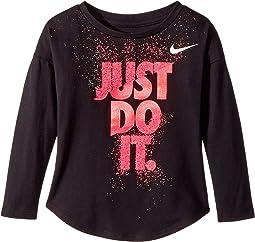 Nike Kids - Hard Stop Just Do It Modern Long Sleeve Tee (Toddler)