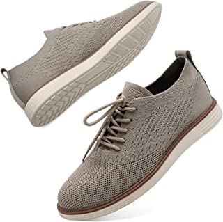 L-RUN Mens Mesh Sneakers Lightweight Breathable Walking Shoes Knit Sneaker Casual