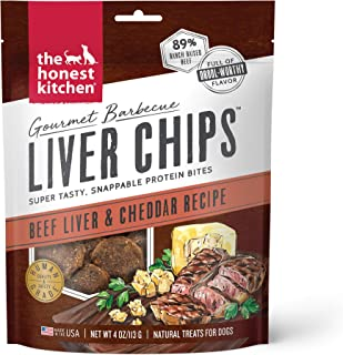 The Honest Kitchen Gourmet Barbecue Liver Chips - Beef Liver And Cheddar Recipe, 4 oz Bag