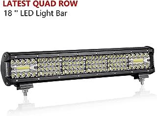 LED Light Bar, OFFROADTOWN 18inch 272W Quad Row LED Driving Light Spot Flood Combo Cree Beam Off Road Light Bar for Vehicle Truck Jeep ATV UTV Wrangle