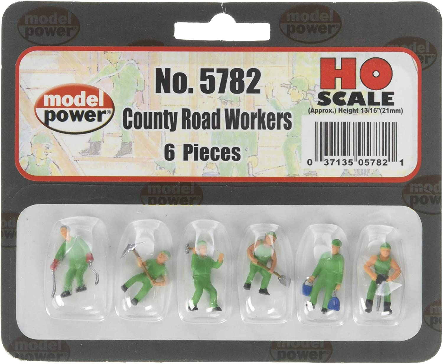 Model Power HO Scale County Road Workers