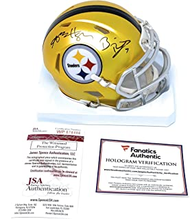 f1fe38180c6 Ben Roethlisberger Antonio Brown Pittsburgh Steelers Dual Signed Autograph  Blaze Speed Mini Helmet Fanatics Authentic JSA