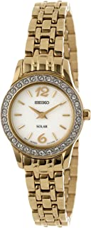 Seiko Women's SUP128 Stainless Steel Analog with White Dial Watch