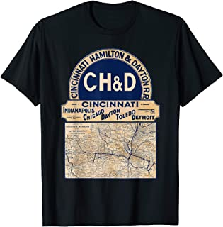 Vintage Cincinnati Hamilton Dayton Rail Road T-Shirt