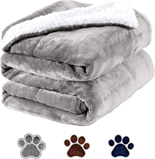 Pettom Waterproof Pet Blanket Dog Soft Mat Warm Pet Throw Liquid Pee Proof Blanket for Couch Bed Fluffy Fleece Bed Protect...