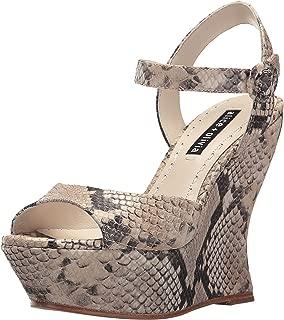 alice + olivia Jana Natural Animal Print Platform Sandals
