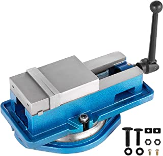 Happybuy 5 Inch ACCU Lock Down Vise Precision Milling Vice 5 Inch Jaw Width Drill Press Vise Milling Drilling Machine Bench Clamp Clamping Vice with 360 Degree Swiveling Base CNC Vise