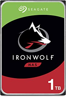 Seagate IronWolf 1TB NAS Internal Hard Drive HDD – CMR 3.5 Inch SATA 6Gb/s 5900 RPM 64MB Cache for RAID Network Attached S...