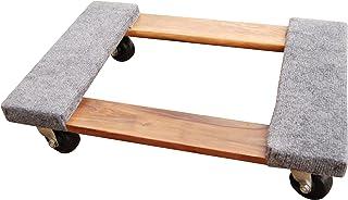Vestil HDOC-1624-9 Hardwood Dolly with Carpet End, 900 lbs C