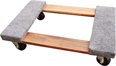 Vestil HDOC-1624-9 Hardwood Dolly with Carpet End, 900 lbs Capacity, 24