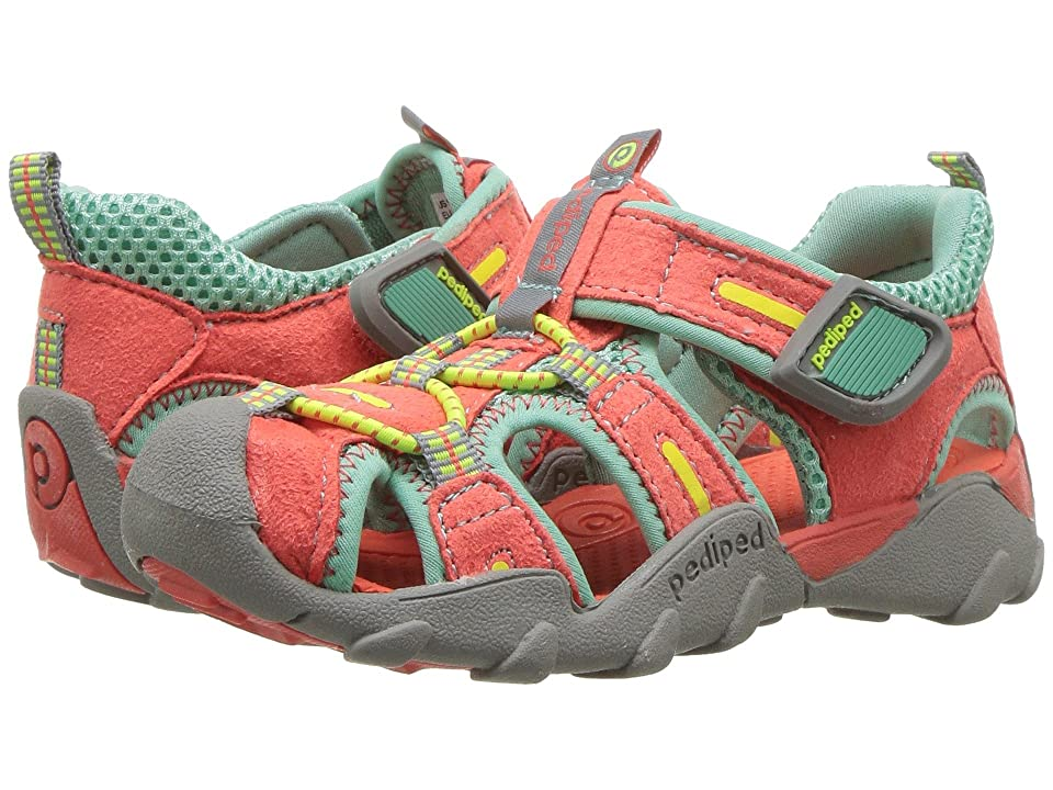 pediped Canyon Flex (Toddler/Little Kid/Big Kid) (Coral Sky) Girls Shoes