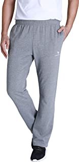 CAMEL CROWN Men's Active Jogger Pants Open Bottom Sweatpants with Pockets Soft Comfortable Casual Trousers for Training Athletic Running Gym Workout Track Sport