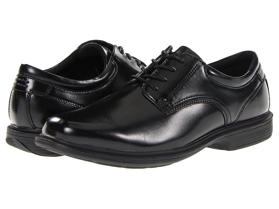 Nunn Bush Baker Street Plain Toe Oxford with KORE Slip Resistant Walking Comfort Technology (Black) Men