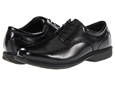 Nunn Bush Baker Street Plain Toe Oxford with KORE Slip Resistant Walking Comfort Technology (Black) Men