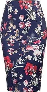 Women's High Waist Bodycon Office Midi Floral Pencil Skirts KK000837