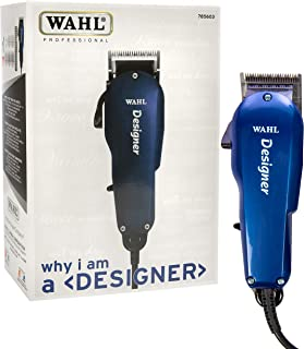 Wahl Professional Designer Clipper #8355-3501, Cuts Hair Wet or Dry, Taper Lever for Easy Fading and Blending, Includes Accessories – Blue