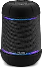 iHome Alexa Built-in Bluetooth Speaker Portable Wireless Waterproof Rechargeable Lights Up to Music, with Speakerphone, Passive Subwoofer, Carry Strap, Durable Shockproof Floatable Design (IBT158)