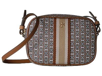 Tory Burch Gemini Link Canvas Mini Bag (Light Umber Gemini Link) Handbags