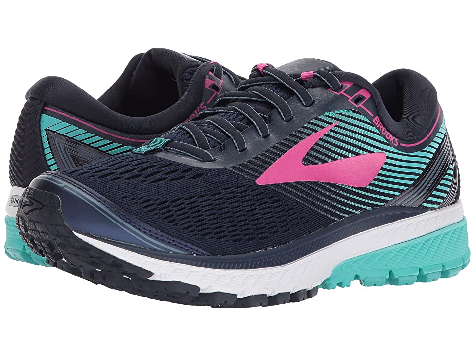 Brooks Ghost 10 (Navy/Pink/Teal Green) Women