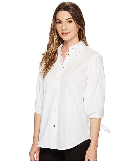 Lauren Tie Cotton Sleeve LAUREN Shirt Ralph 5BWfqnF