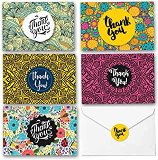 Thank You Cards with Envelopes - 50 Cute Fiesta Thank You Cards Bulk - 4x6 Blank Cards & Envelopes. Perfect as Wedding & Bridal Shower Thank You Cards, Baby Shower, Gratitude Cards