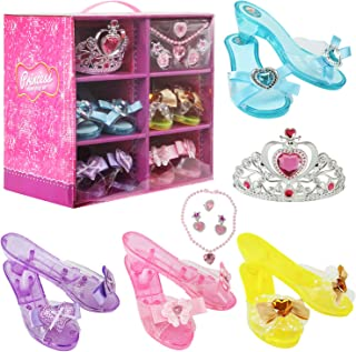 Girls Princess Dress up Shoes Role Play Collection Shoes...