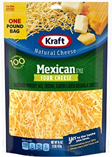 Kraft Finely Shredded Mexican Style 4 Cheese Blend (16 oz Bag)